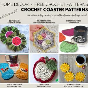 Crocheted Coaster Patterns - Free Pattern Friday - Instagram