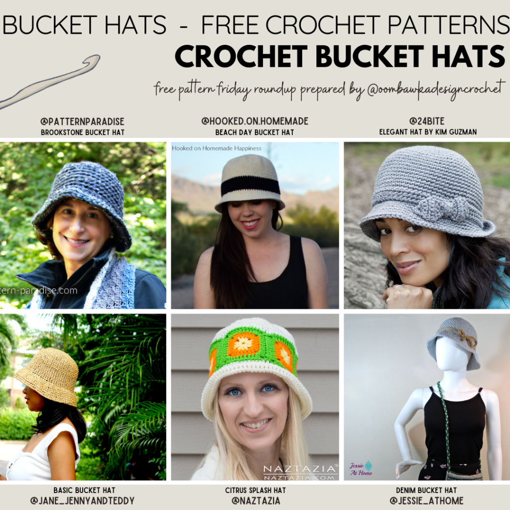 Crochet Bucket Hats - Free Pattern Friday