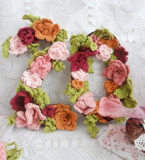 Crochet Flower Numbers - Link Party 387