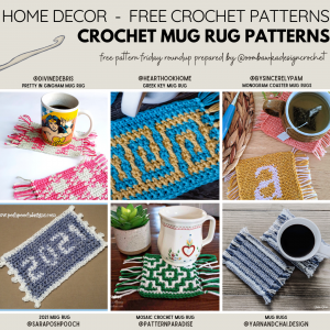 Crochet Mug Rugs Free Pattern Friday