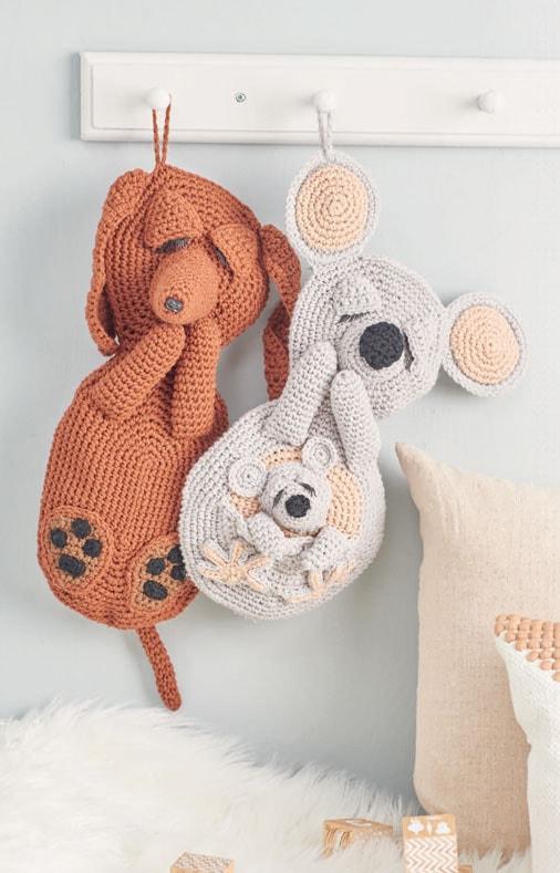 Cuddle-Buddies-Koala-and-Dachshund-Leisure-Arts-Review-by-Rhondda-Mol