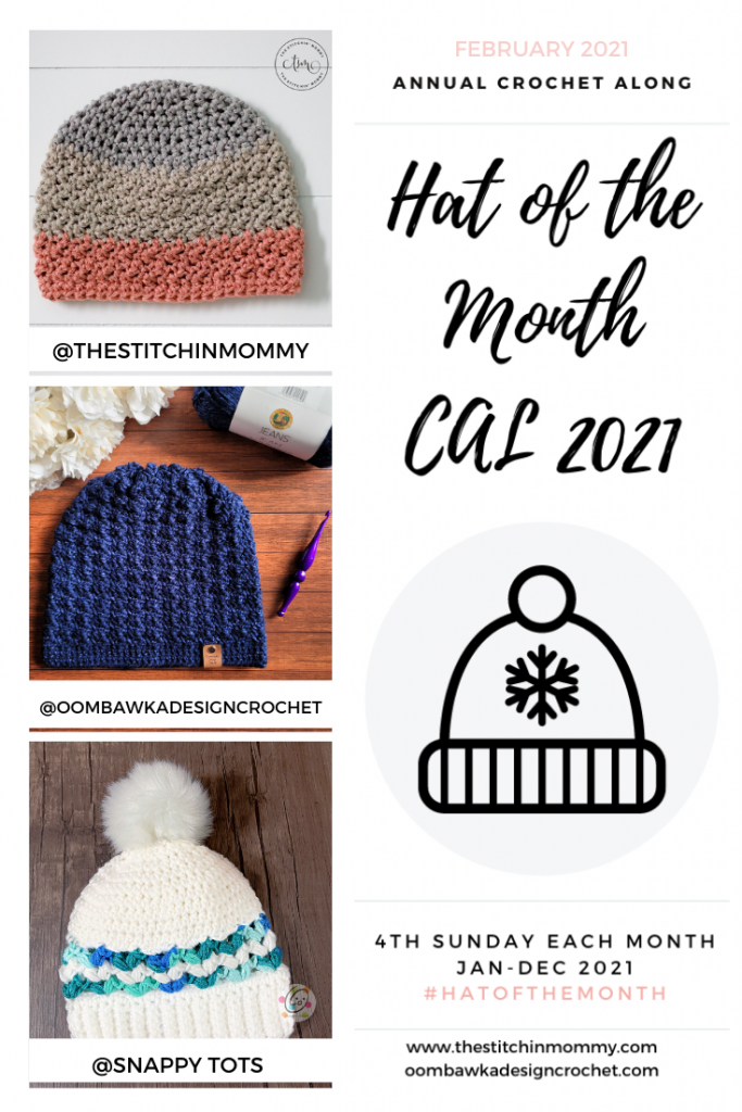 February Hat of the Month CAL 2021 GRID PIN