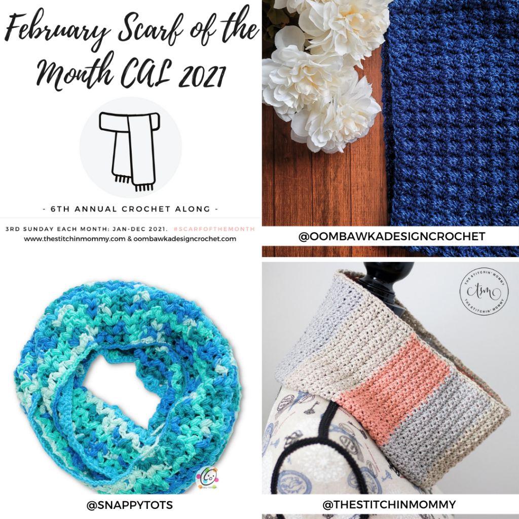 February Scarf of the Month CAL 2021 grid