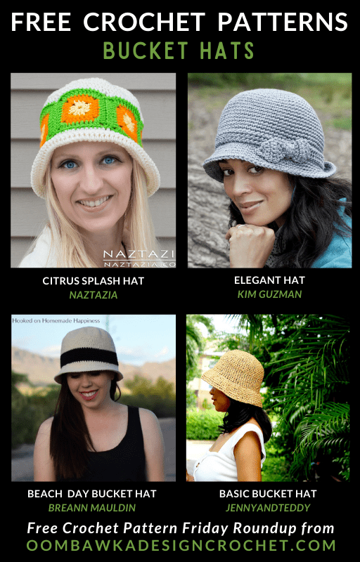 Free Pattern Friday Crochet Bucket Hats