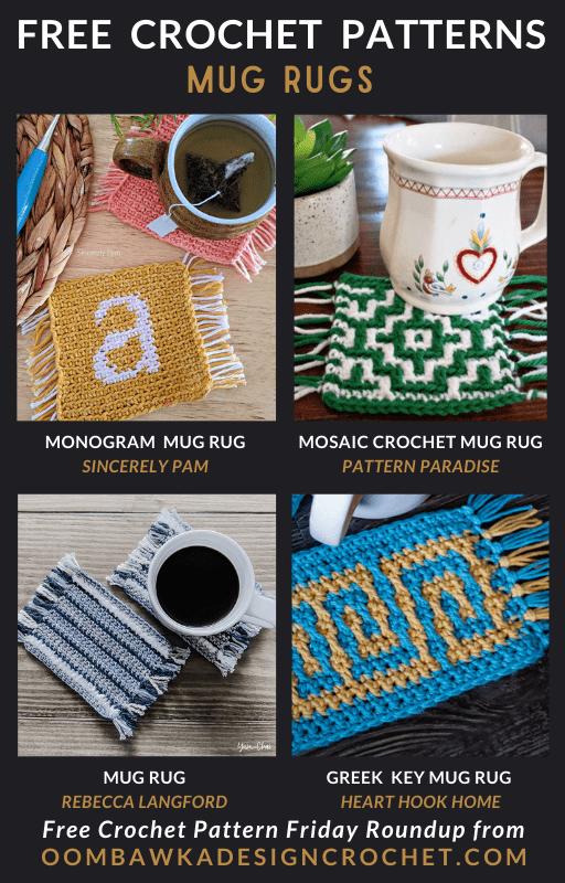 Free Pattern Friday Mug Rugs