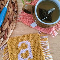 Monogram Coaster Mug Rug - Free Pattern Friday