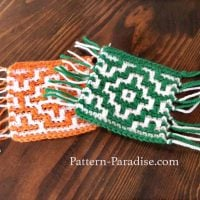 Mosaic Crochet Mug Rugs