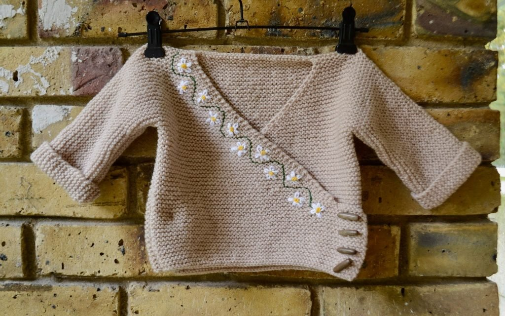 Windy Day Baby Cardigan - Wednesday Link Party 386