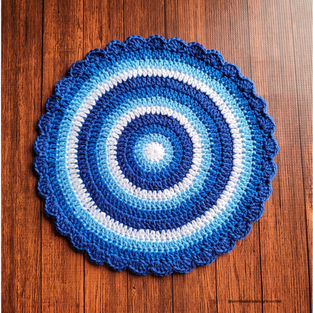 Winter Blues Table Mat