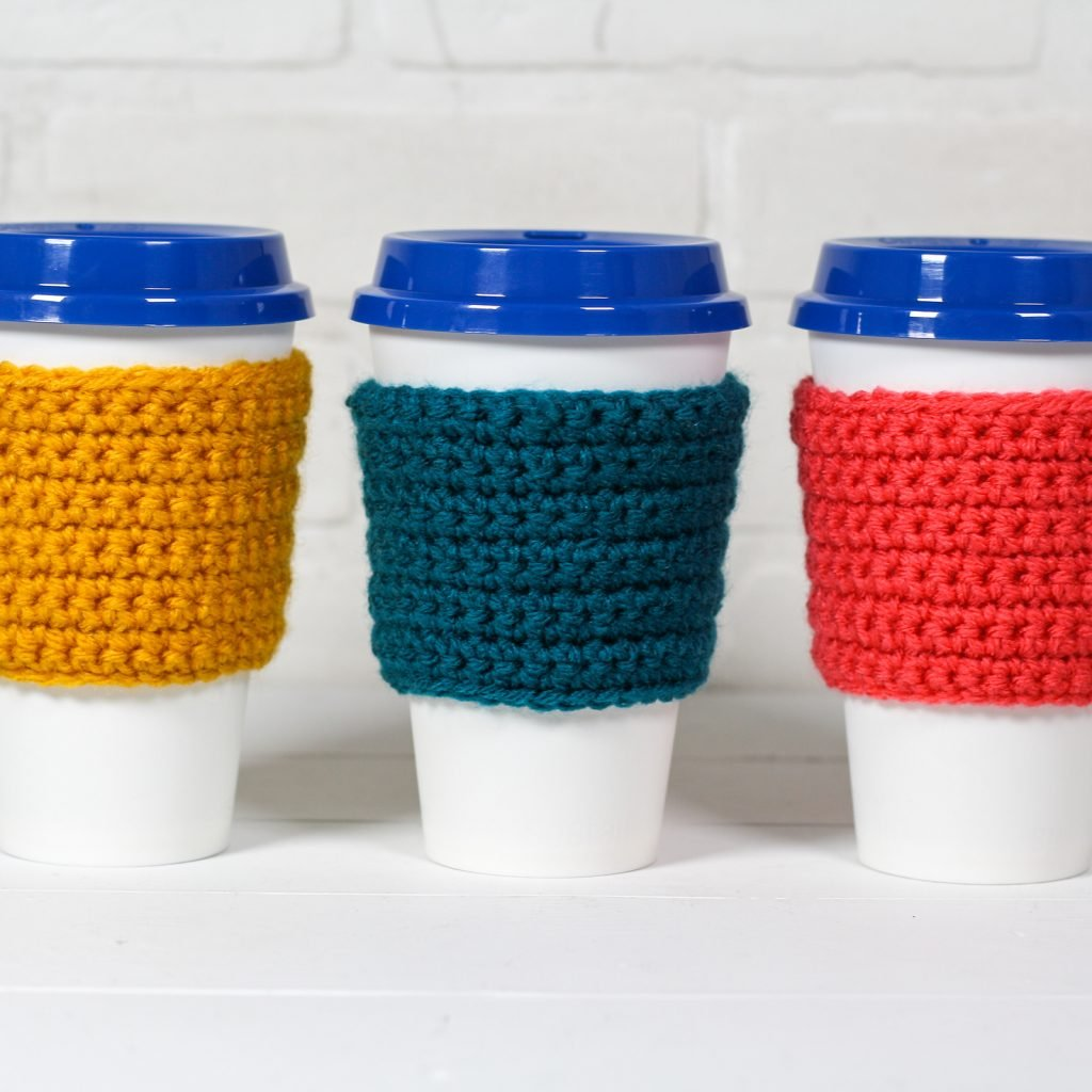 Beginner Coffee Travel Cup Cozy - Free Pattern Friday