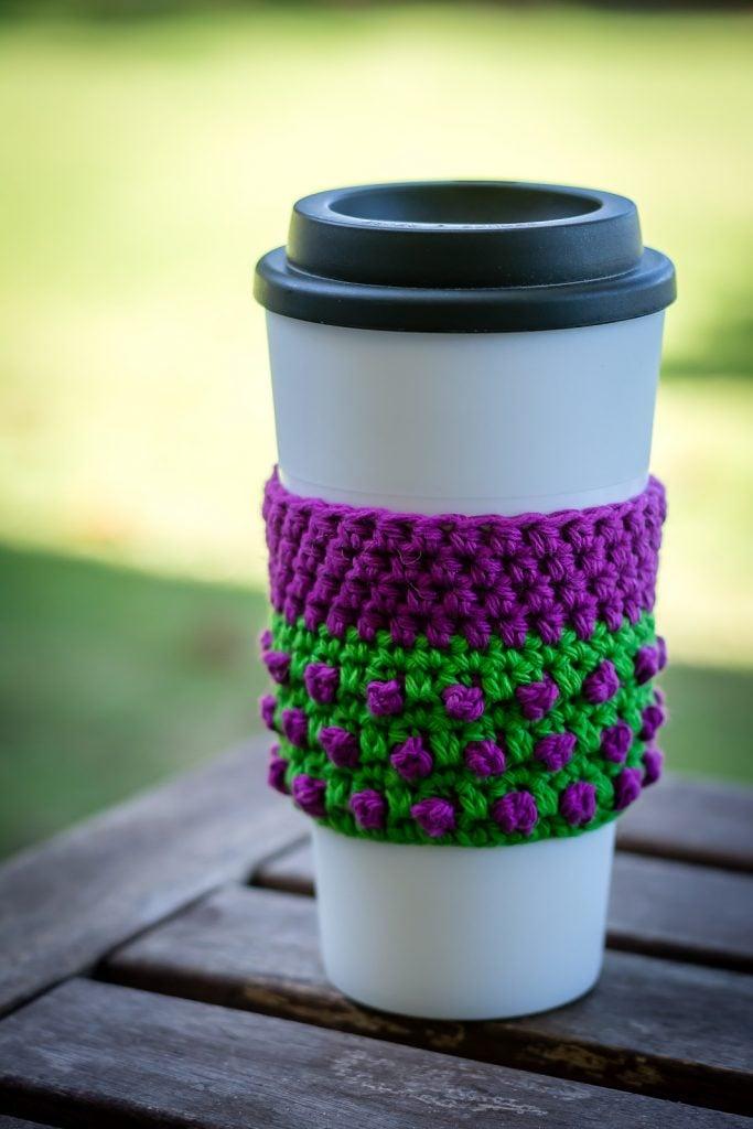 Blackberry Coffee Cozy - Free Pattern Friday