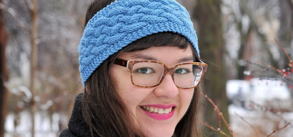 Blue Woven Cable Headband - Link Party 391
