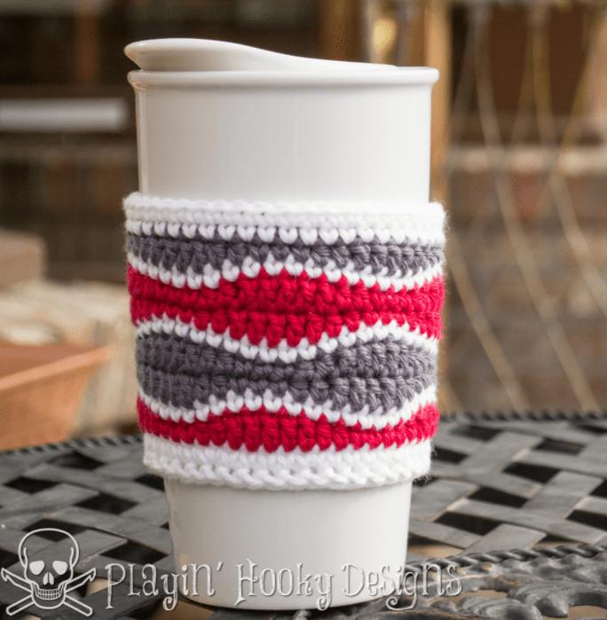 Brain Waves Coffee Cozy - Free Pattern Friday