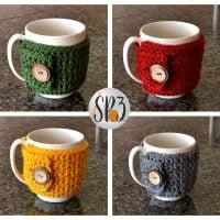 Coffee Cozy Sweater Wrap - Free Pattern Friday