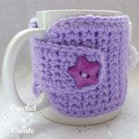 Flowered Mug Cozy - Free Pattern Friday