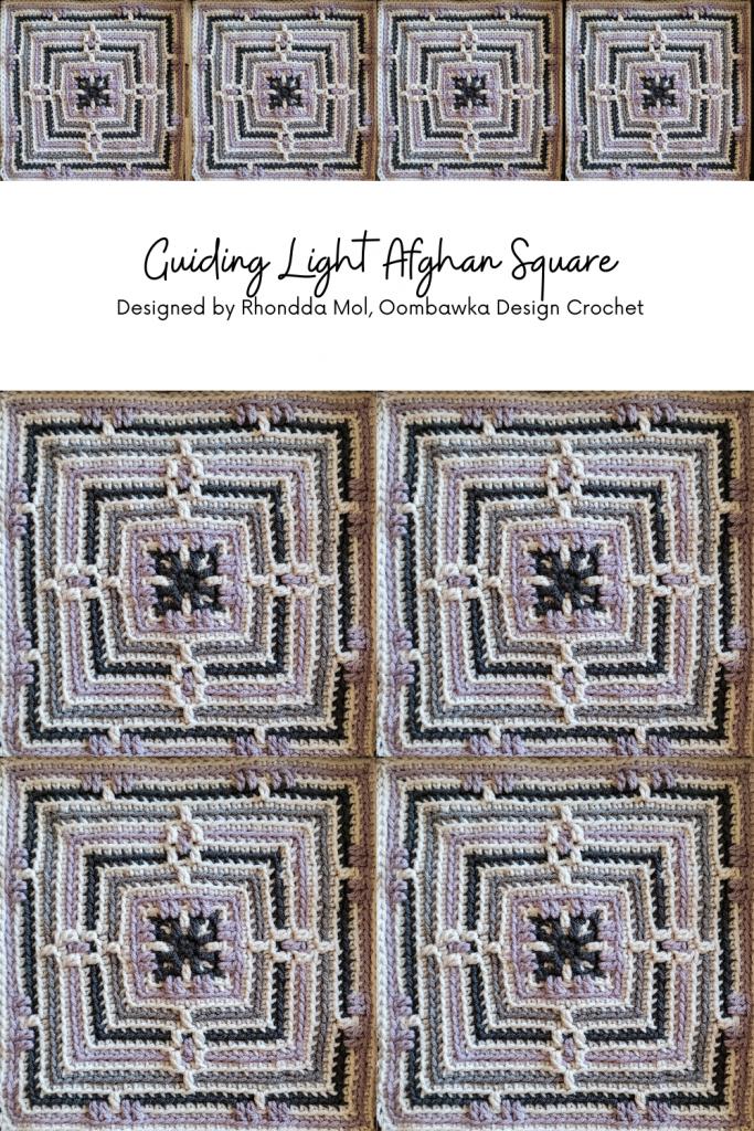 Guiding Light Afghan Square Pattern by Rhondda Mol