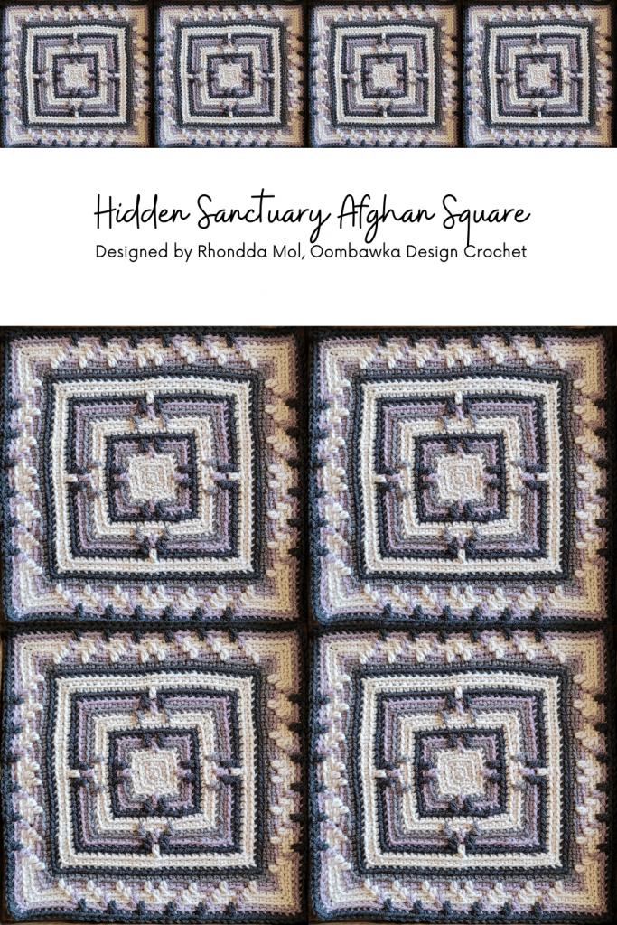 Hidden Sanctuary Afghan Square Pattern - Oombawka Design Crochet