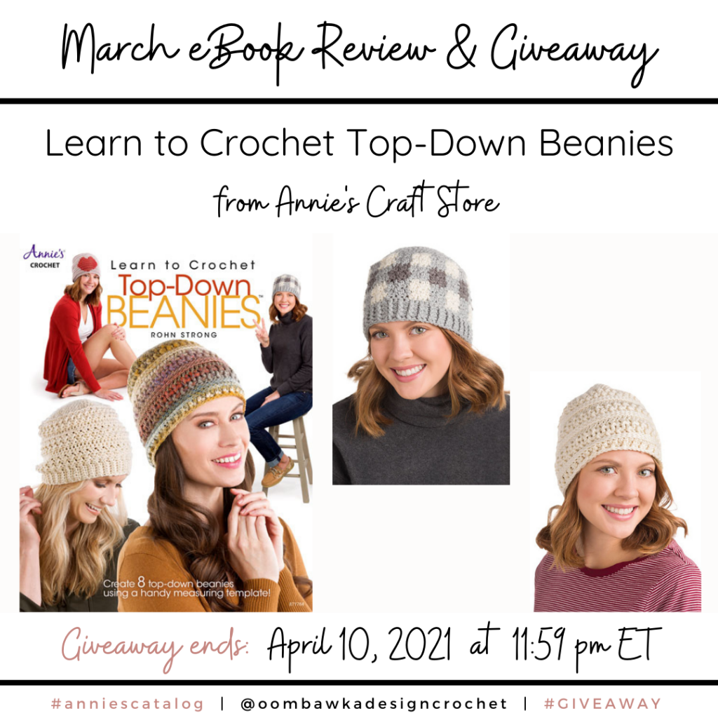 Learn to Crochet Top-Down Beanies Annie's Review and Giveaway Instagram
