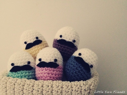 Lil Moustache Easter Eggs - Free Pattern Friday