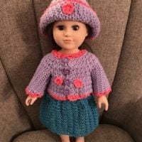 Link Party 390 -Doll Cardigan Skirt and Hat