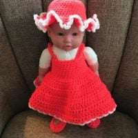 Link Party 392 Coral Baby Doll Sundress