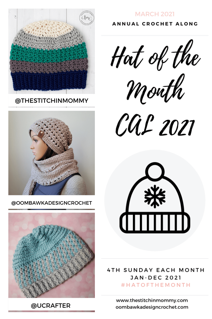 March Hat of the Month CAL 2021 GRID PIN