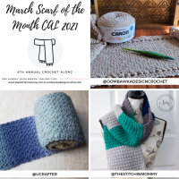 March Scarf of the Month CAL 2021 grid