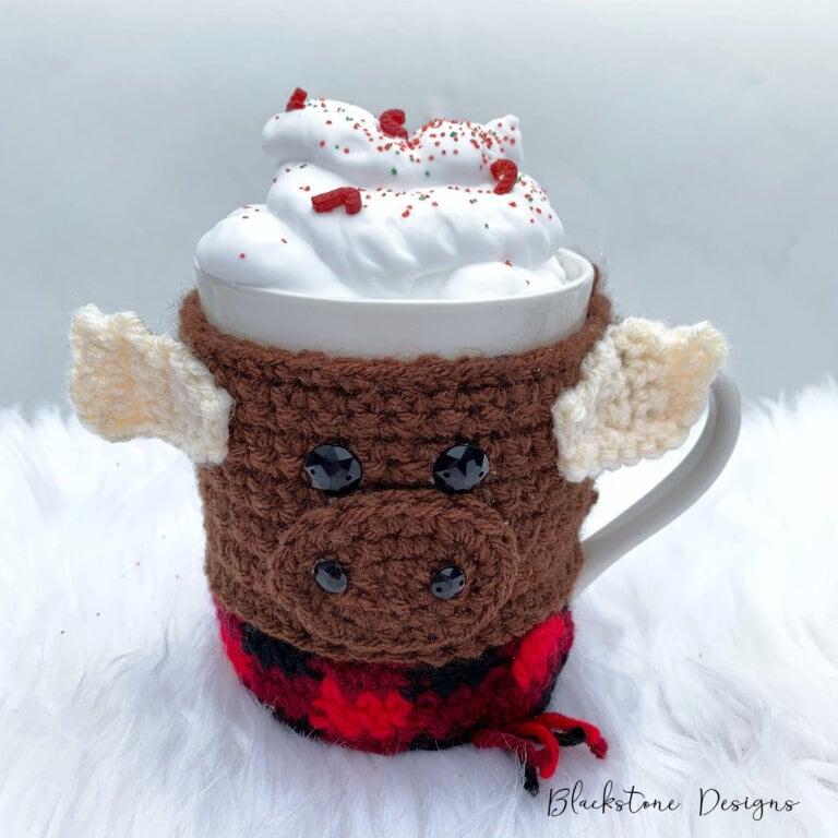 Moose Mug Cozy - Free Pattern Friday