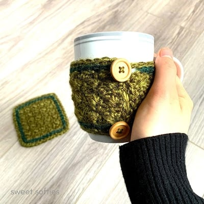 Northwest Coffee Cup Cozy - Free Pattern Friday
