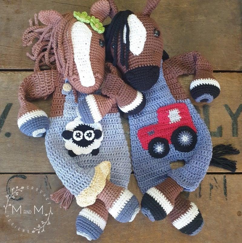Ragdoll Bonnie Clyde Horse - mandmcrochetdesigns