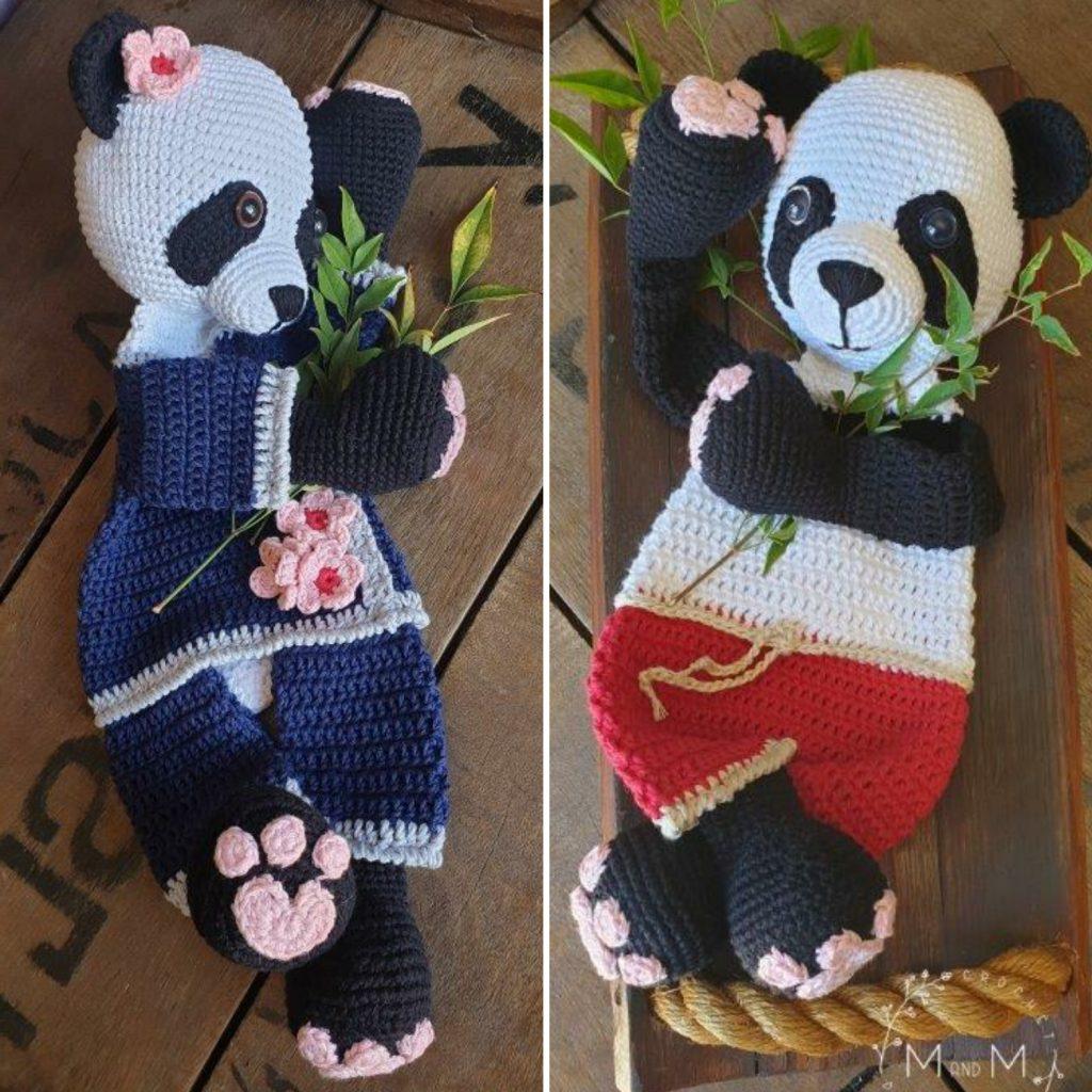 Ragdoll Giant Panda Bear - mandmcrochetdesigns