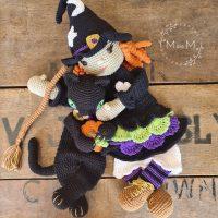 Ragdoll Luna the Witch and Eclipse the Black Cat Ragdoll - mandmcrochetdesigns