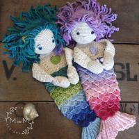 Ragdoll Shelly Sandy Mermaid - mandmcrochetdesigns