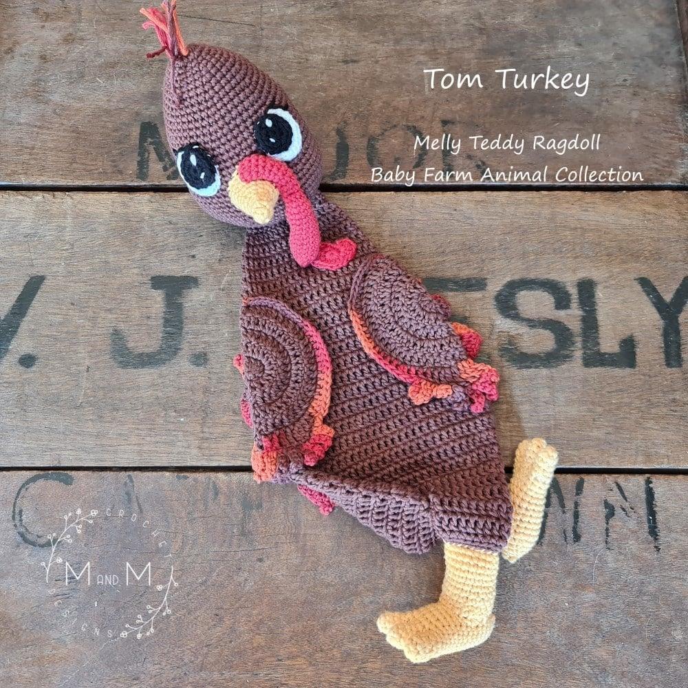 Ragdoll Tom The Turkey - mandmcrochetdesigns