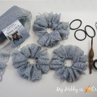 Sassy Lace Scrunchie - Link Party 391