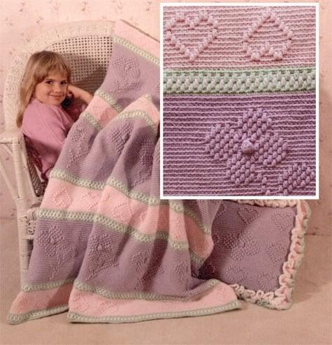 Spring Fling Afghan and Pillow Pattern Set