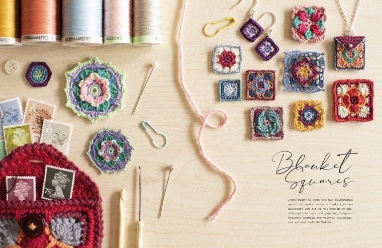 Blanket Squares - 100 Micro Crochet Motifs - David&Charles - Book Review