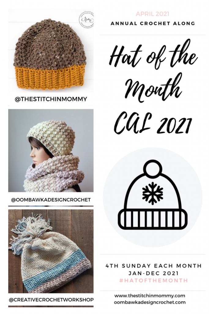 April Hat of the Month CAL 2021 GRID PIN