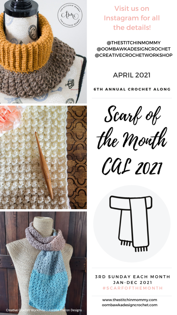 April 2021 Scarf of the Month Crochet Along Patterns