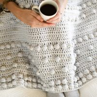 Luxe Bobbles Throw - Free Pattern Friday