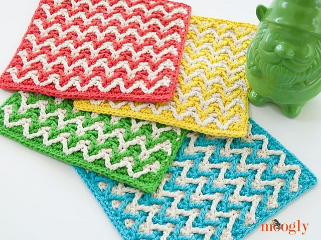 Bright Chevron Dishcloth - Free Pattern Friday