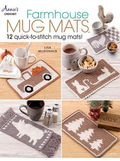 Farmhouse Mug Mats - Annie's Craft Store - Book Review
