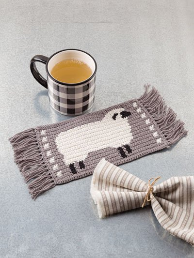 Sheep Mug Mat - Farmhouse Mug Mats