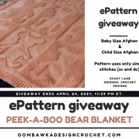 Peek-a-Boo Bear Blanket Shady Lane Pattern Review and Giveaway