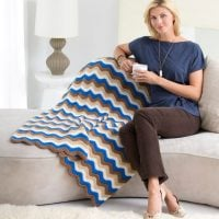 Red Heart Ripple Throw - Free Pattern Friday