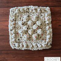 Bobble Stitch Dishcloth