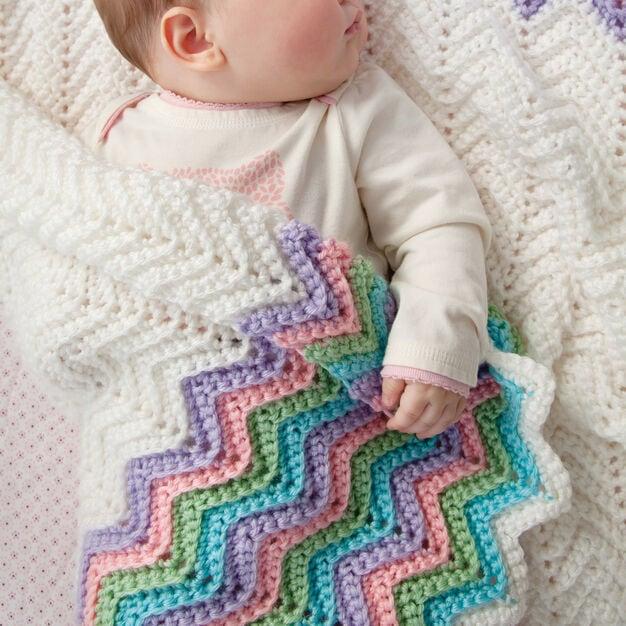 Rickrack Rainbow Ripple Baby Blanket - Free Pattern Friday