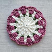 Small Spring Mandala Pattern 2021 Furls Crochet Blog Hop - Free Pattern @oombawkadesigncrochet