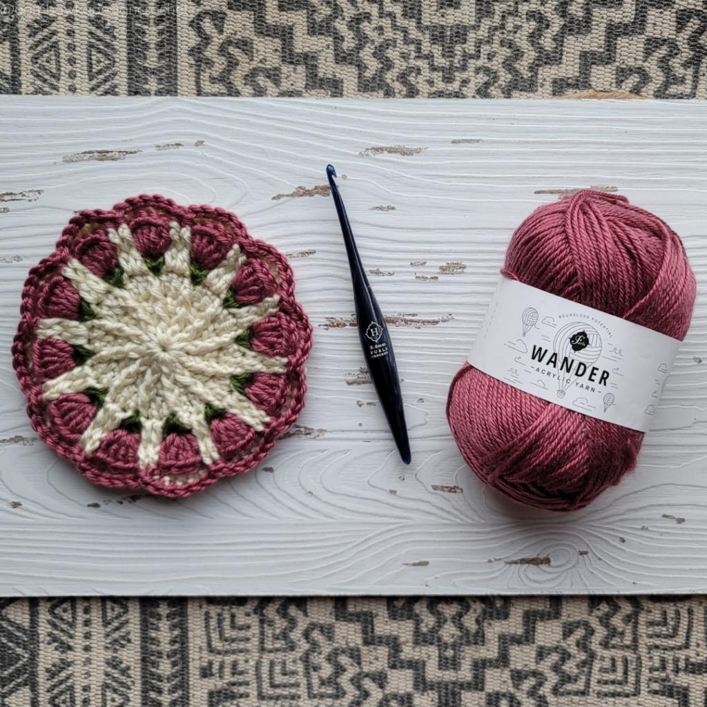 Small Spring Mandala Pattern Yarn and Hook #FurlsCrochet 2021 @oombawkadesigncrochet