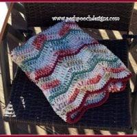 Triple Ripple Throw Blanket - Free Pattern Friday